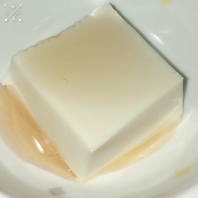今日のおやつは【豆乳プリン】でした。