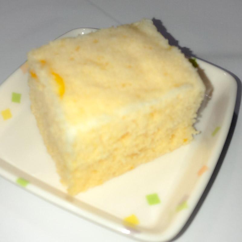今日のおやつは【ゆず蒸しケーキ】でした。