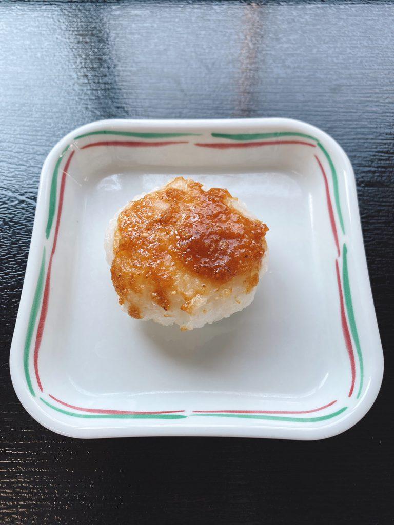 きょうのおやつは、五平餅風(郷土のお菓子シリーズ)でした。