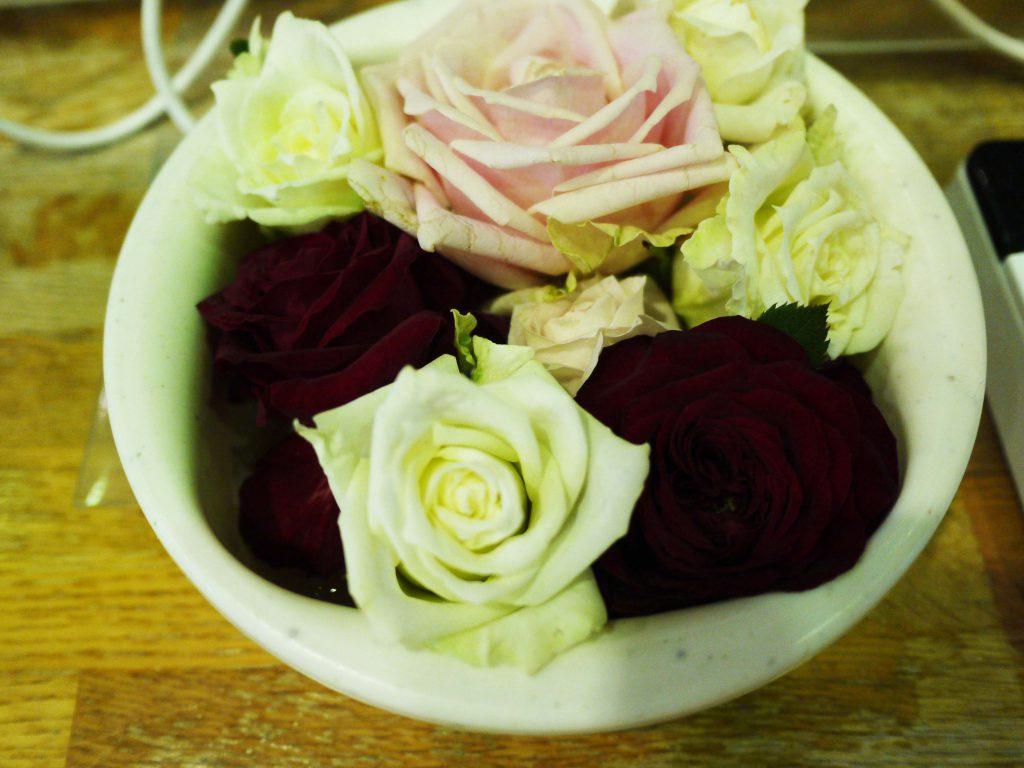 切りバラの贈り物